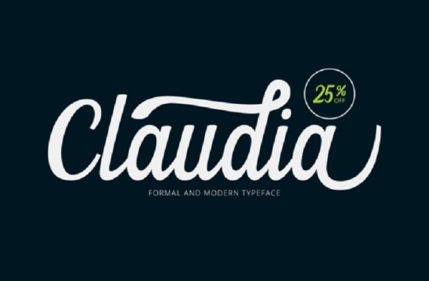 Claudia Script Free Font