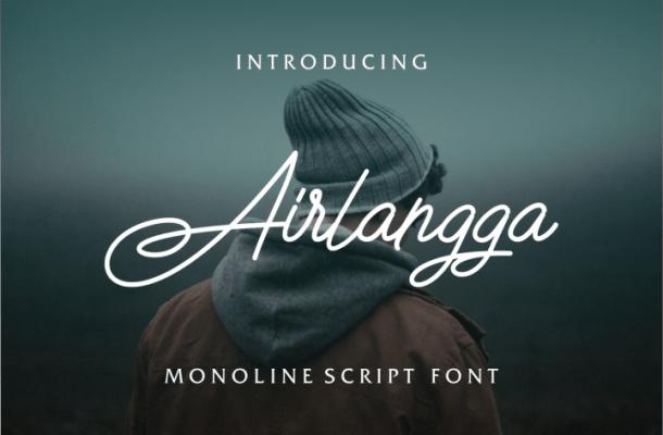 Airlangga Script Font Free