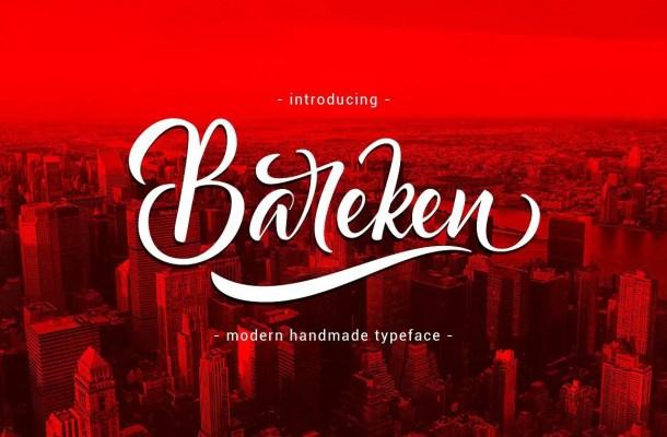 Bareken Script Font Free