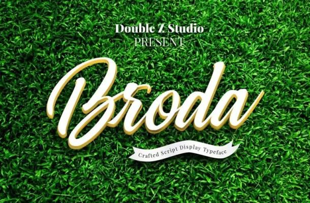 Broda Script Font Free
