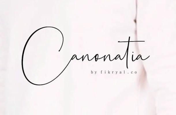 Canonatia Handwritten Font Free