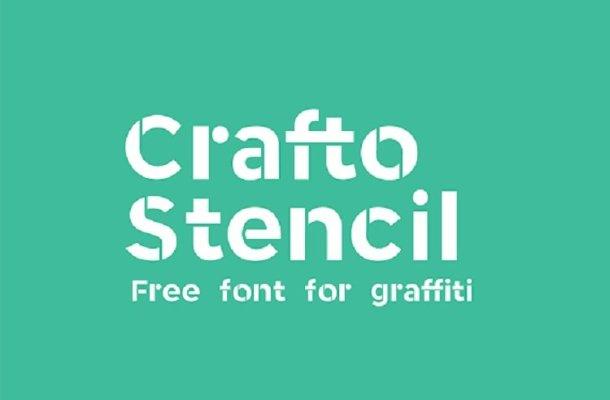 Crafto Stencil Typeface Free