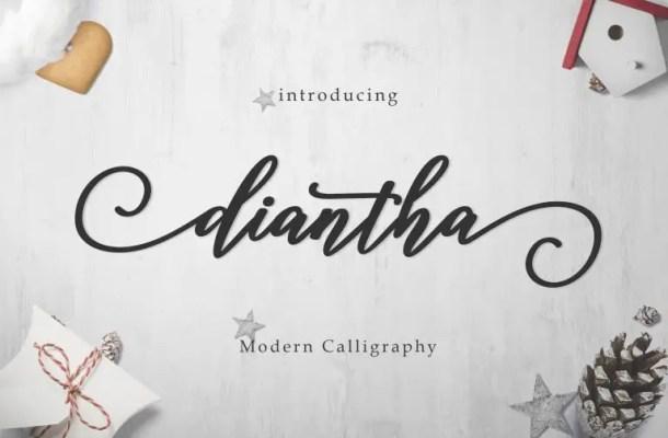 Diantha Script Font Free