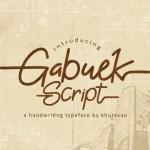 Gabuek Script Font Free