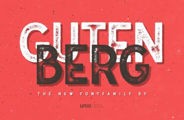 Gutenberg Font Family Free