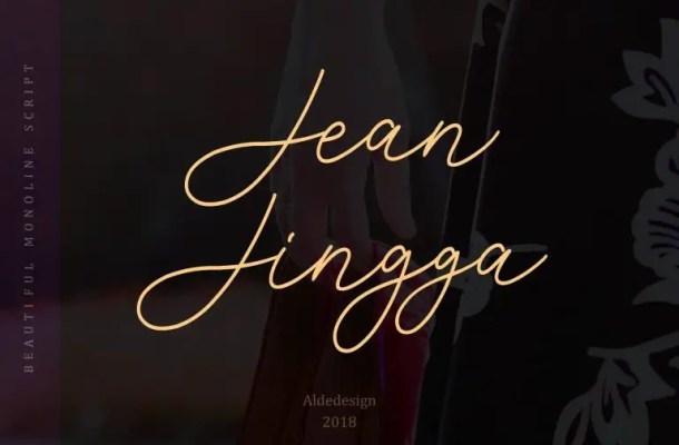 Jean Jingga Script Font Free
