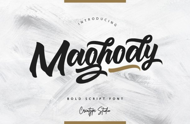 Maghody Bold Script Font