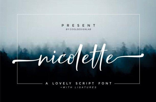 Nicolette Script Font Free