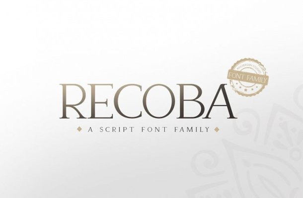 Recoba Font Family Free