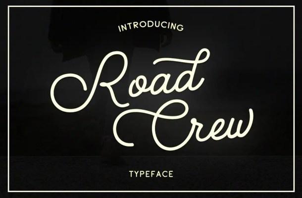 Road Crew Script Font Free