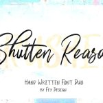 Shutten Reason Font Duo