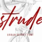 Strude Script Font Free