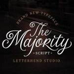 The Majority Script Font Free