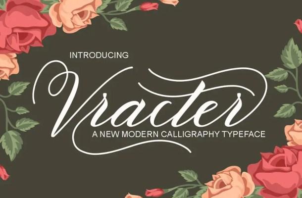 Vracter Script Font Free