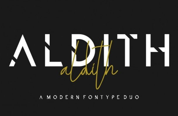 ALDITH Font Duo Free