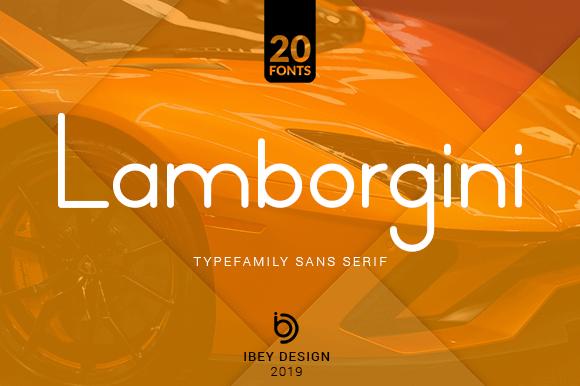 Lamborgini Font Family Free