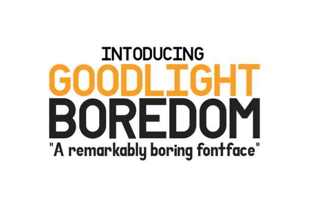 Goodlight Boredom Font Free