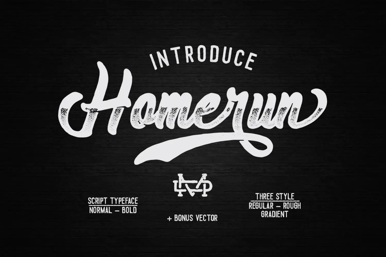 Homerun Script Font Free