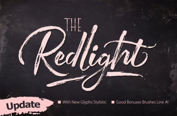 The Redlight Font Duo Free