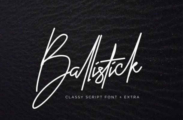 Ballistick Signature Font Free