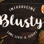 Blusty Font Duo Free