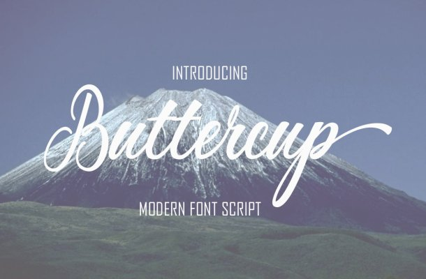 Buttercup Calligraphy Font