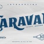 Caravan Display Font Free
