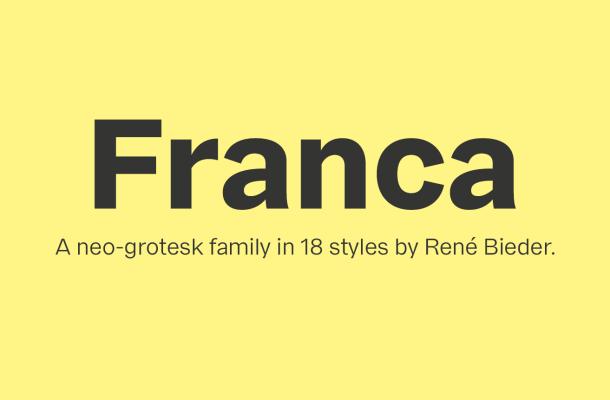 Franca Font Family Free