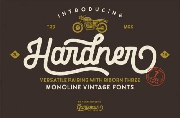 Hardner Vintage Font Free