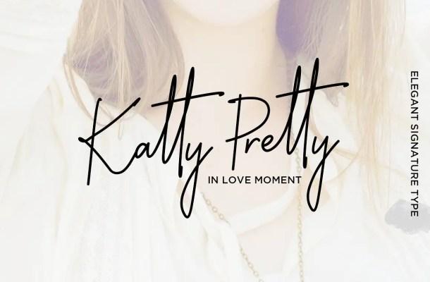 Katty Pretty Script Font Free