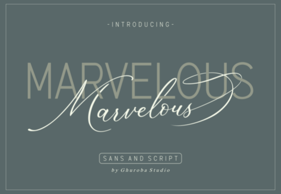 Marvelous Font Duo Free