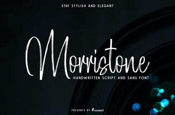 Morristone Script Font Free