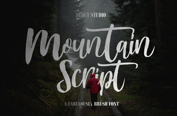 Mountain Brush Font Free