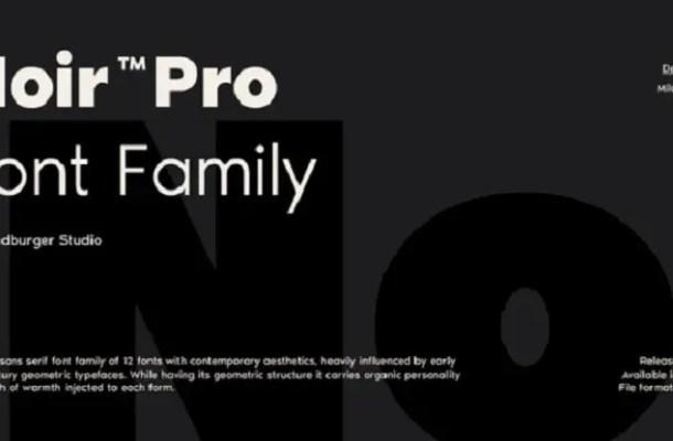 Noir Font Family Free