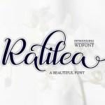 Ralilea Script Font Free