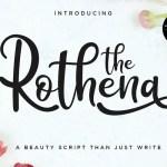 The Rothena Script Font Free