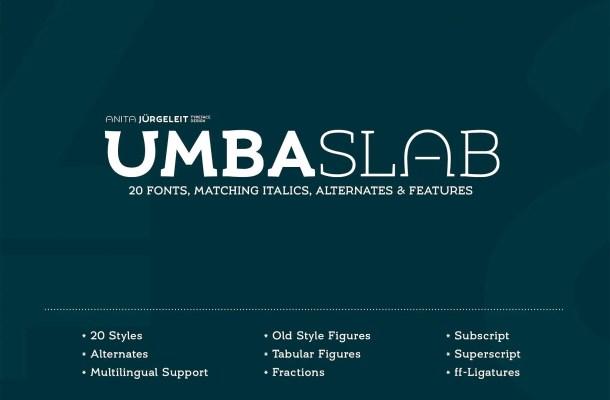 Umba Slab Font Family Free