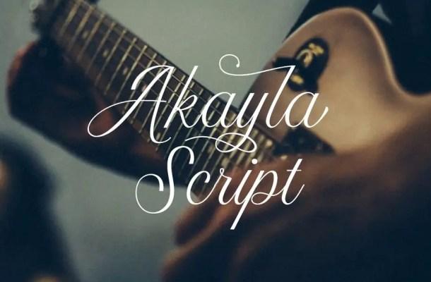 Akayla Script Font Free