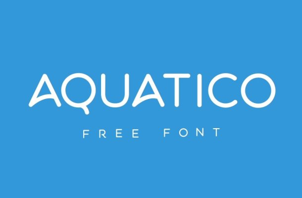 Aquatico Free Animated Font