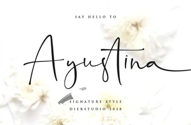 Ayustina Signature Font Free
