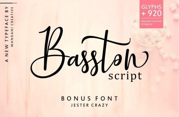 Basston Script Font Duo