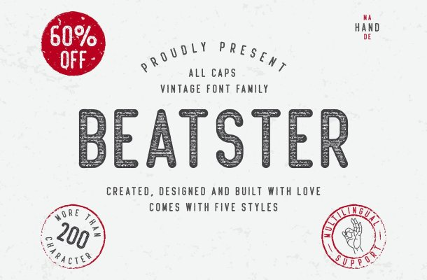 Beatster Typeface Free