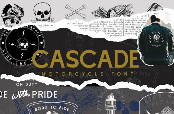 Cascade Motorcycle Font Free