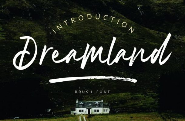 Dreamland Brush Font Free