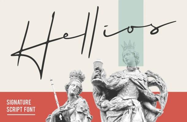 Hellios Signature Font Free