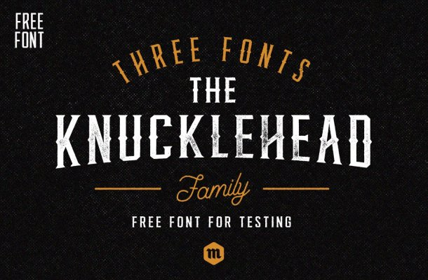Knucklehead Typeface Free