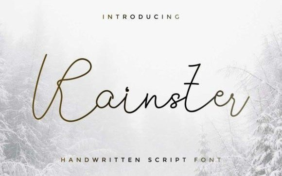 Rainster Handwritten Font Free