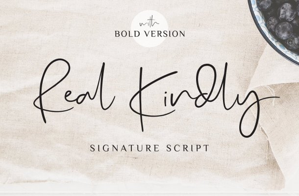 Real Kindly Signature Font Free