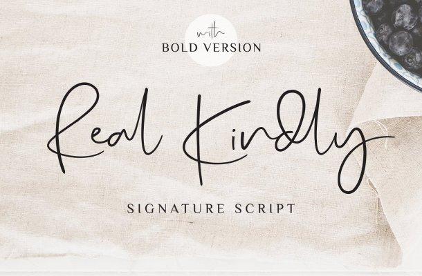 Real Kindly Signature Font Free