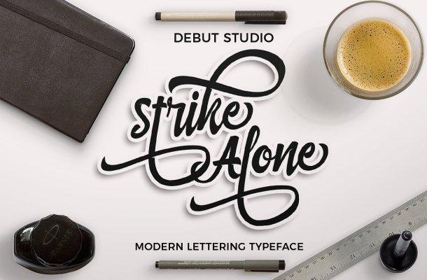 Strike Alone Script Font